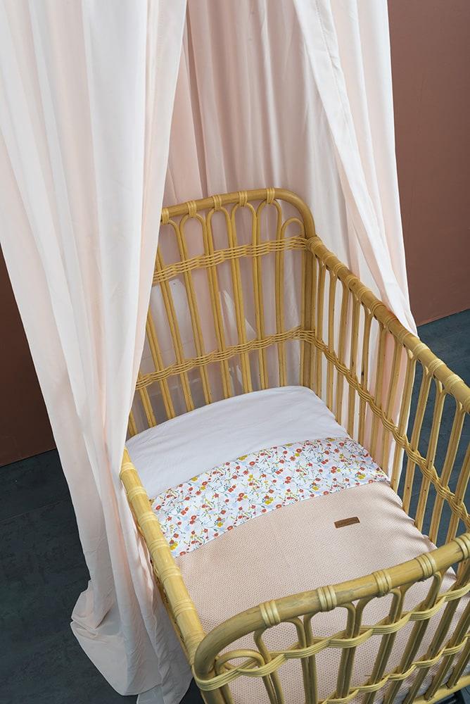 baby crib blanket bloom old pink