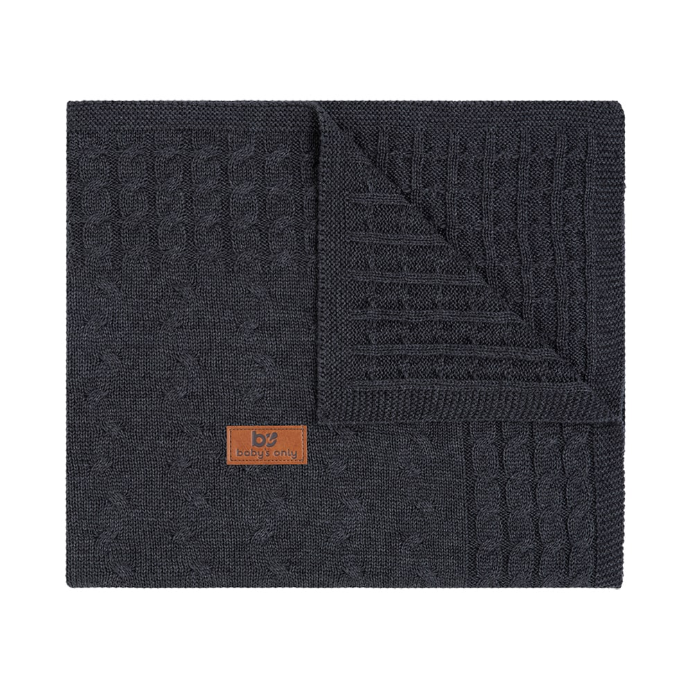 baby crib blanket cable anthracite