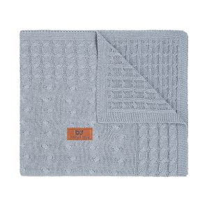 Baby crib blanket Cable grey