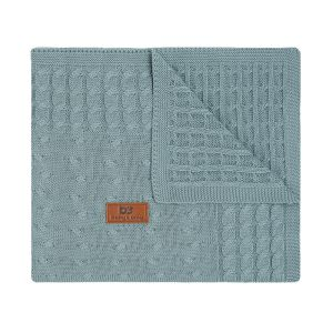 Baby crib blanket Cable stonegreen