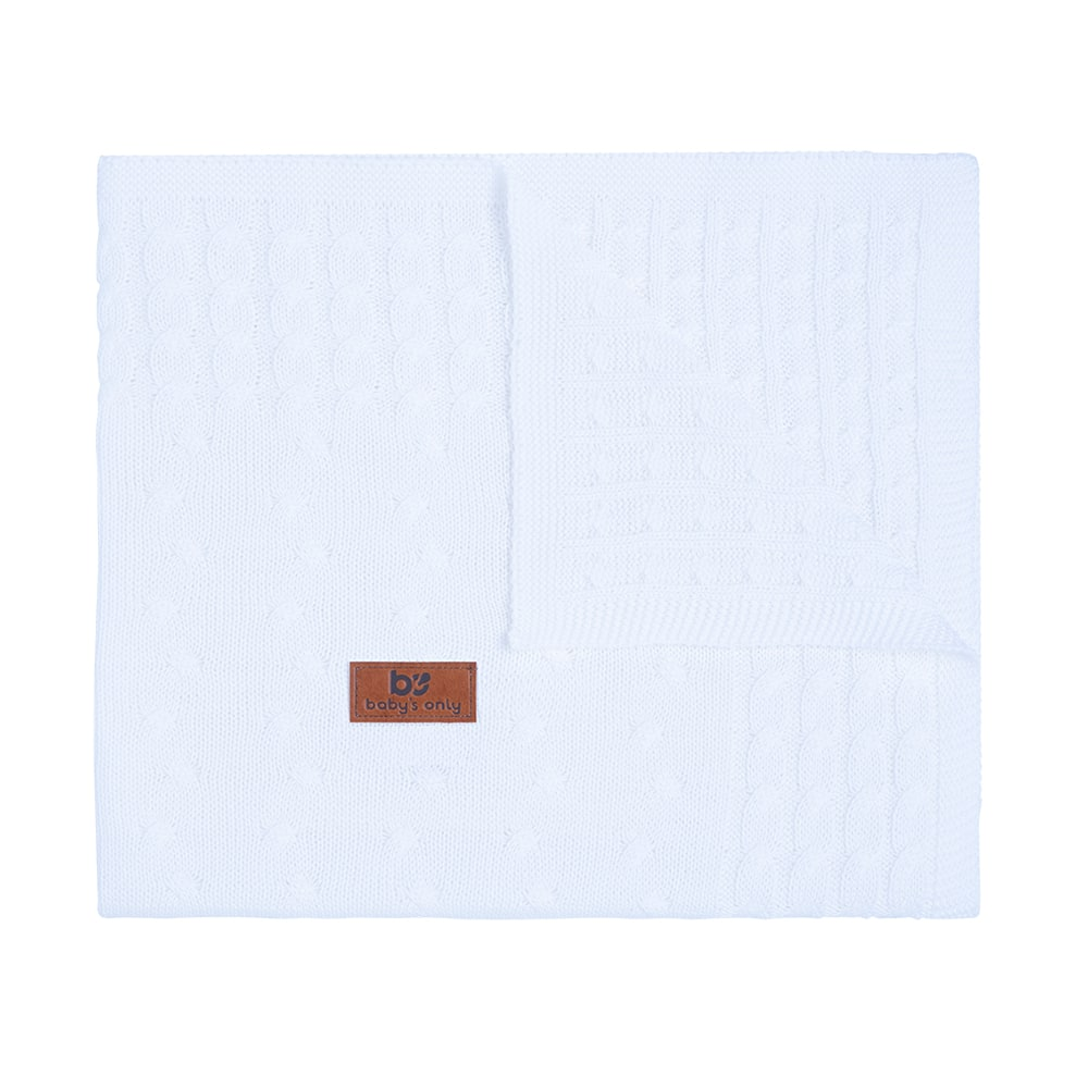 baby crib blanket cable white