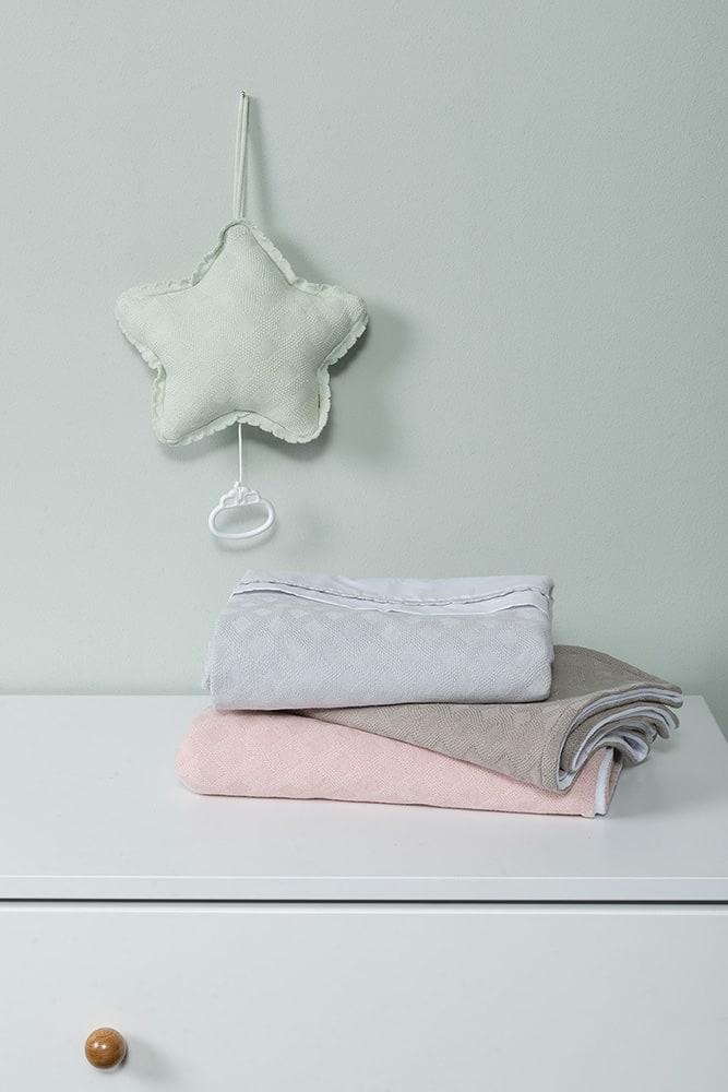 baby crib blanket chenille reef dusty grey