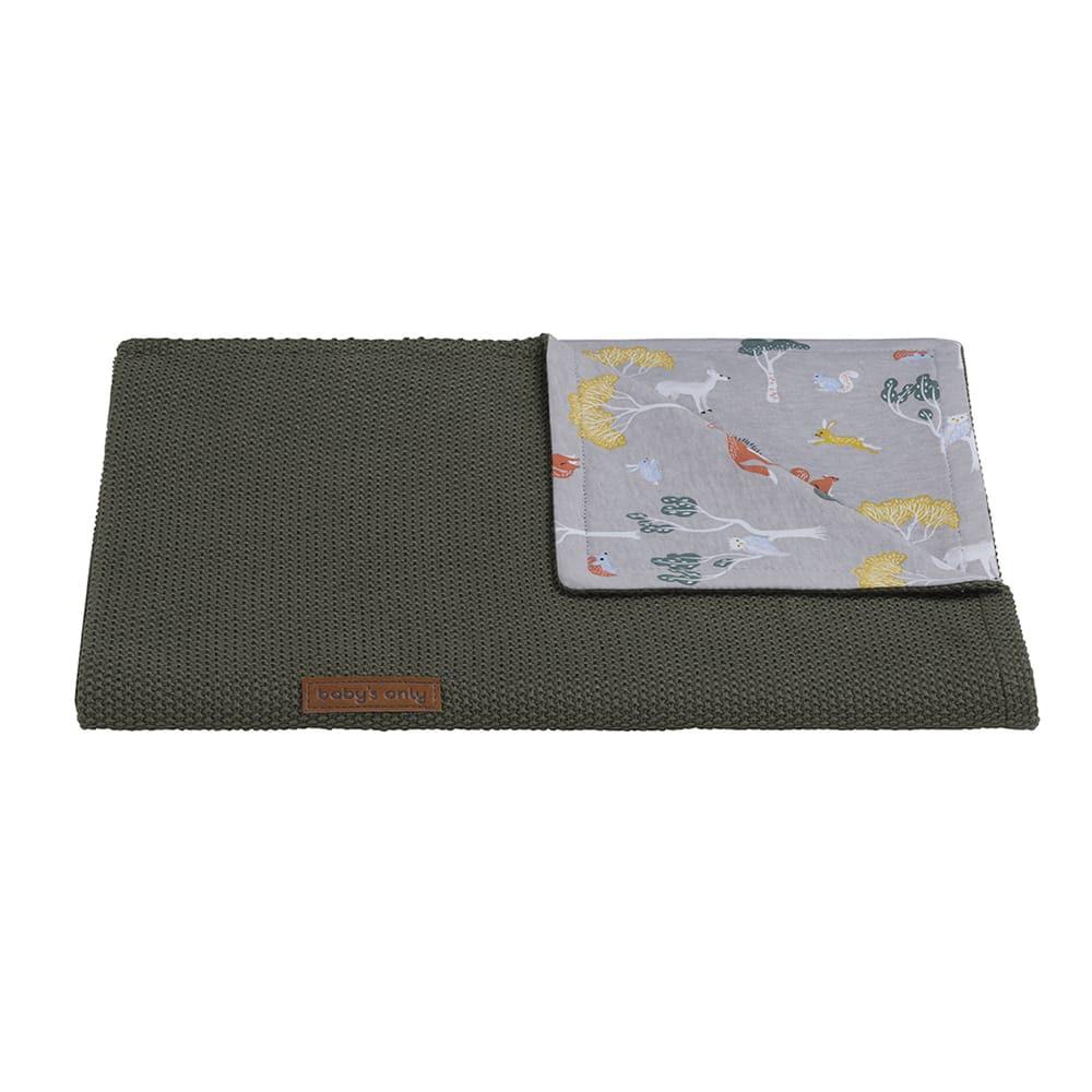 baby crib blanket forest khaki