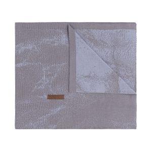 Baby crib blanket Marble cool grey/lilac