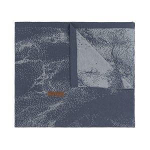 Baby crib blanket Marble granit/grey