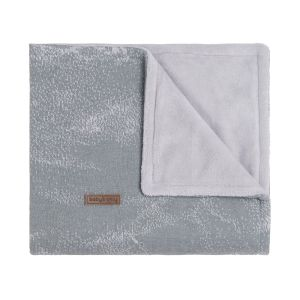 Baby crib blanket Marble grey/silver-grey