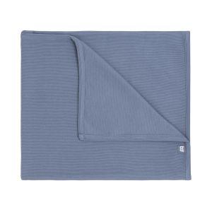 Baby crib blanket Pure vintage blue