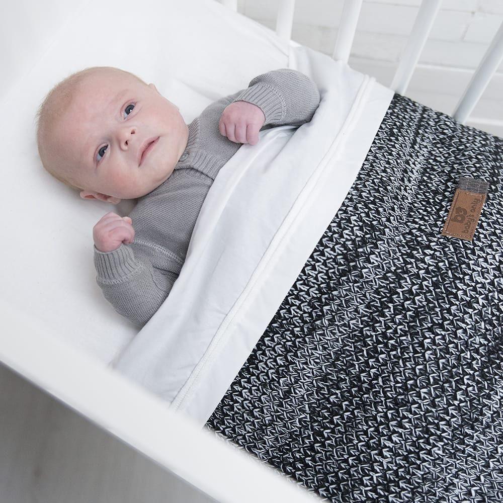 baby crib blanket river blackwhite melee