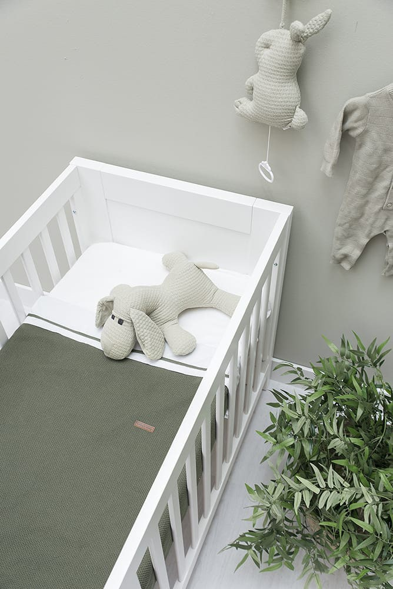 baby crib blanket soft classic khaki