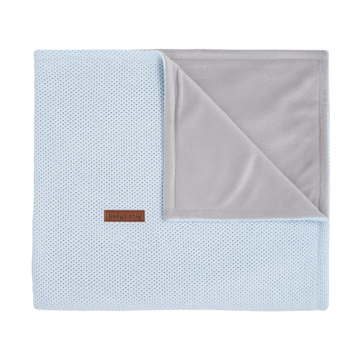 baby crib blanket soft classic powder blue