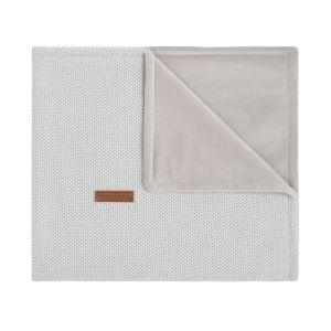Baby crib blanket soft Classic silver-grey