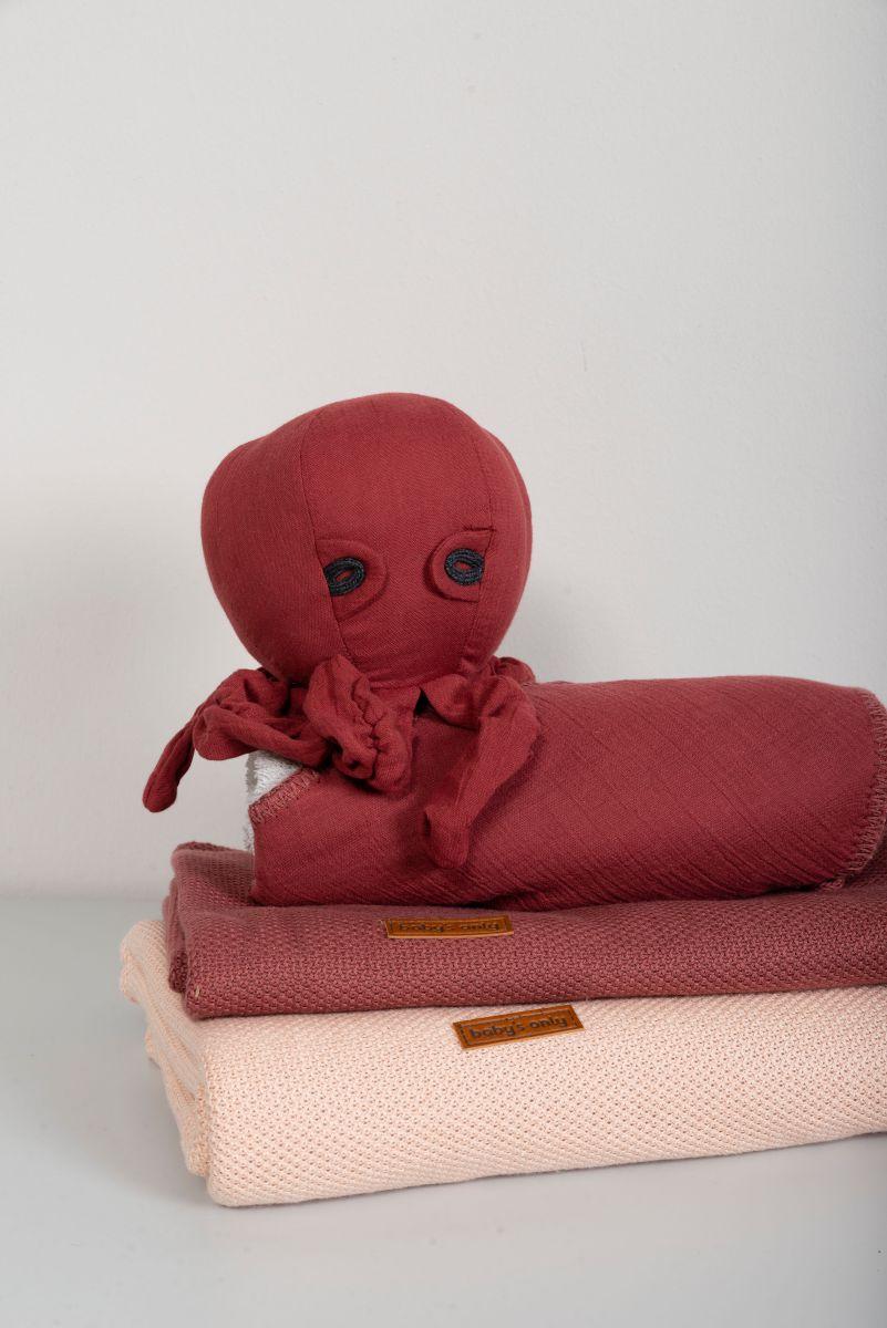 baby crib blanket soft classic stone red