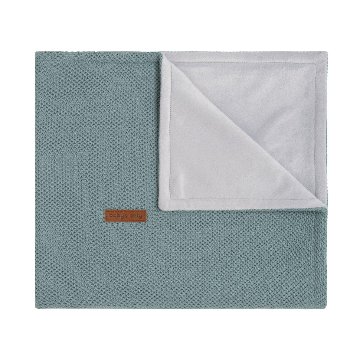 baby crib blanket soft classic stonegreen