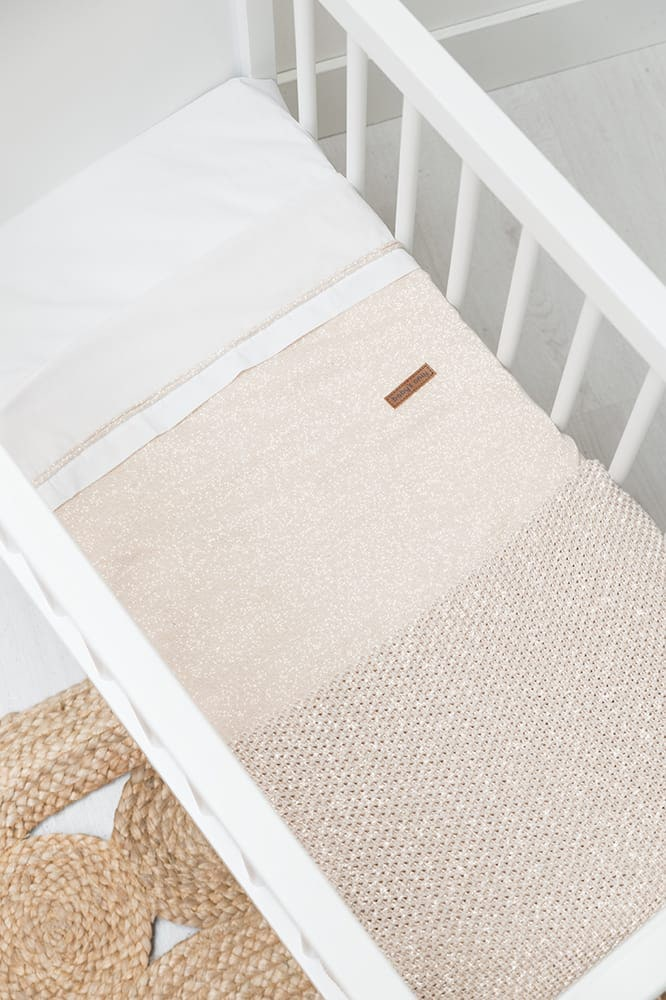 baby crib blanket soft sparkleflavor goldivory melee
