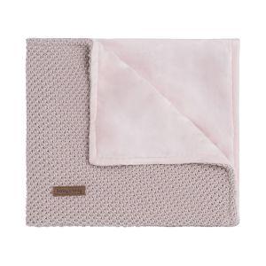 Baby crib blanket soft Sparkle-Flavor silver-pink melee
