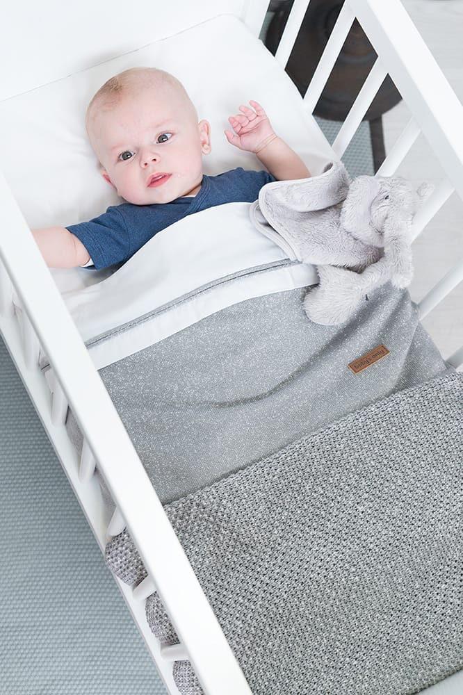 baby crib blanket soft sparkleflavor silverpink melee