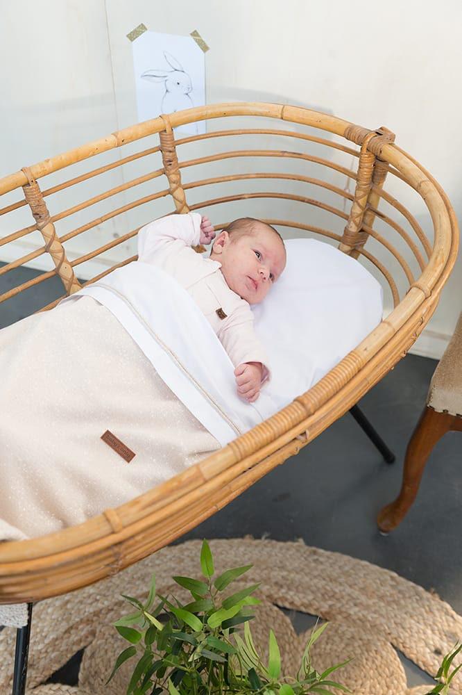 Baby Crib Blanket Soft Sparkle Gold Ivory Melee