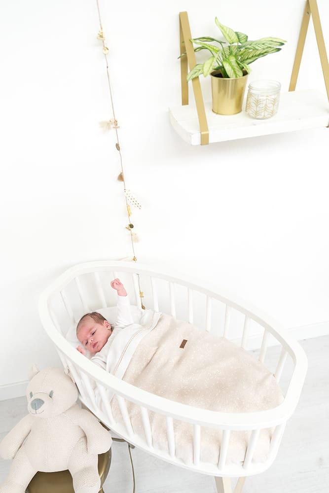 baby crib blanket soft sparkle goldivory melee