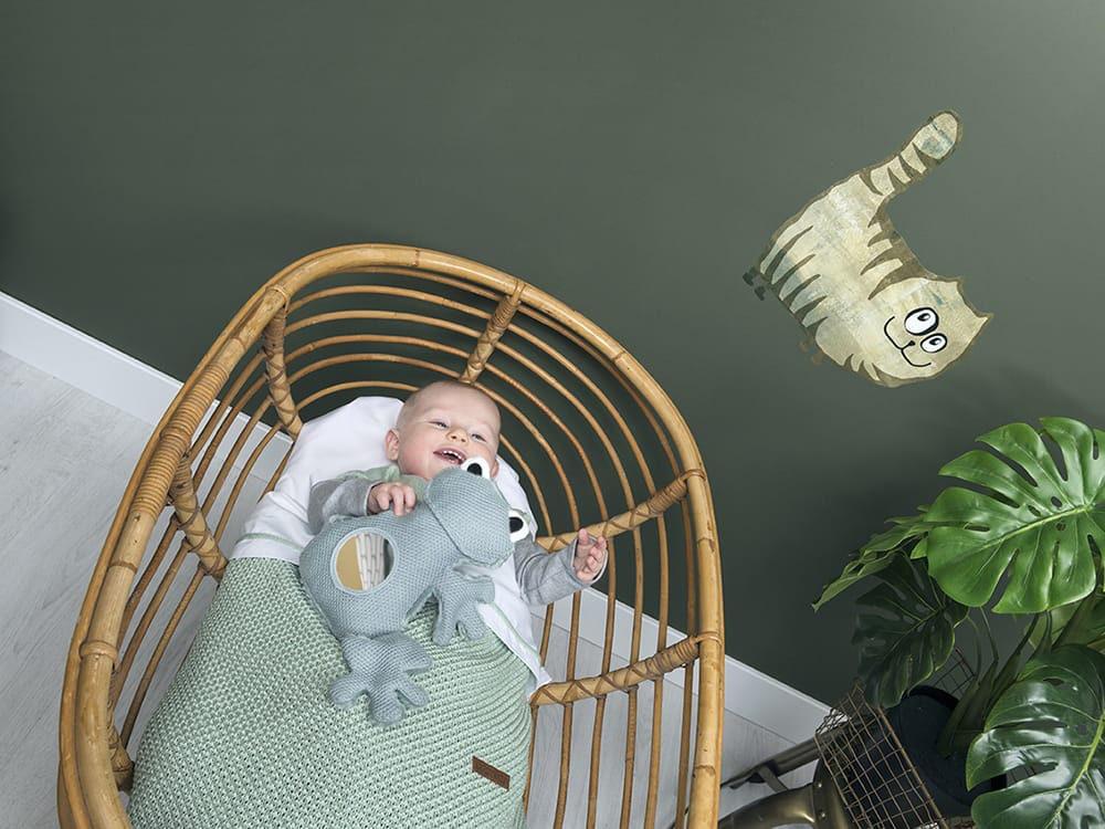 baby crib blanket soft sparkle goldmint melee