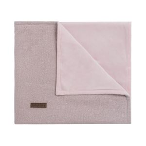 Baby crib blanket soft Sparkle silver-pink melee