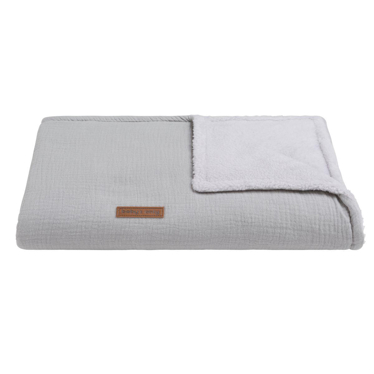 baby crib blanket teddy breeze grey
