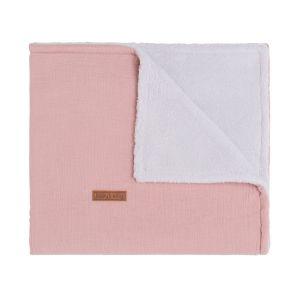 Baby crib blanket teddy Breeze old pink