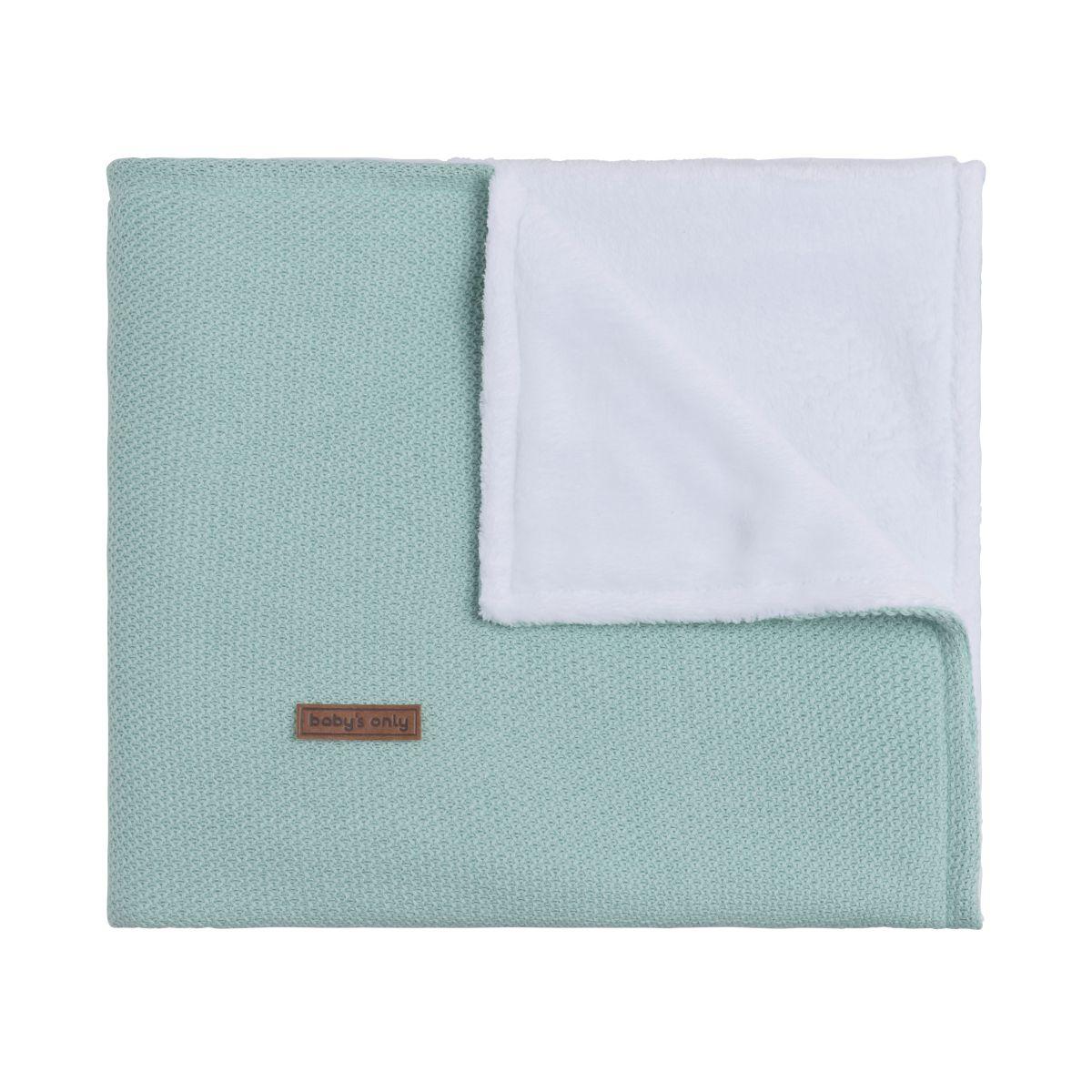 baby crib blanket teddy classic mint