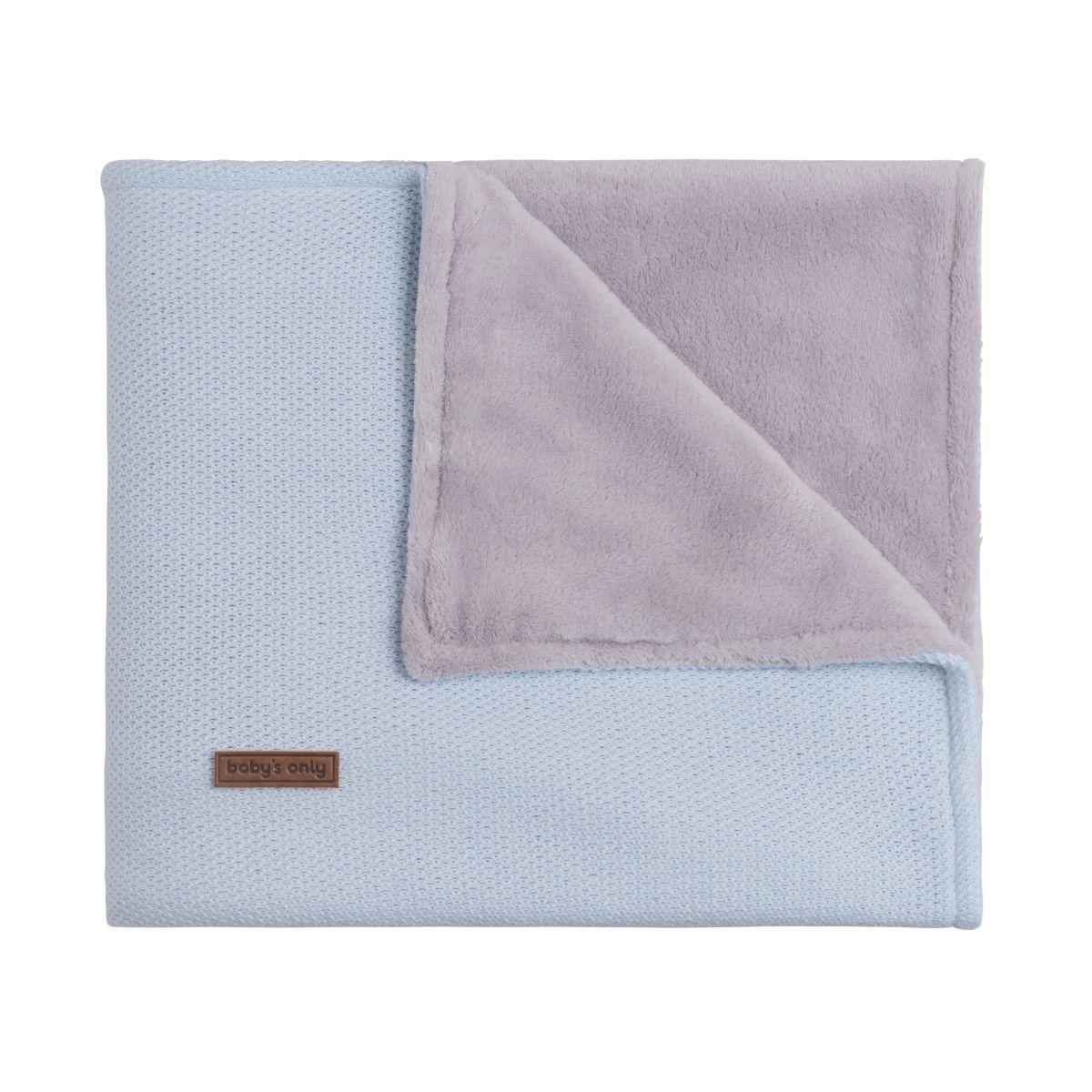 baby crib blanket teddy classic powder blue