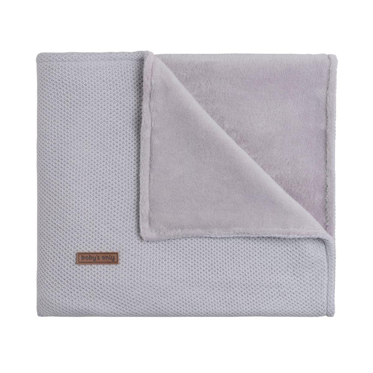 baby crib blanket teddy classic silvergrey