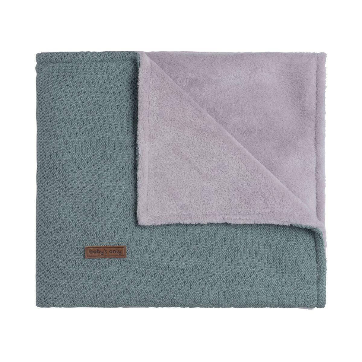 baby crib blanket teddy classic stonegreen