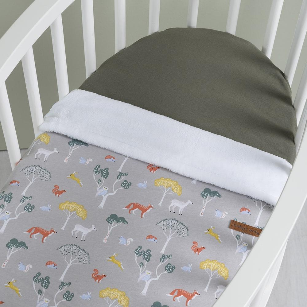 baby crib blanket teddy forest