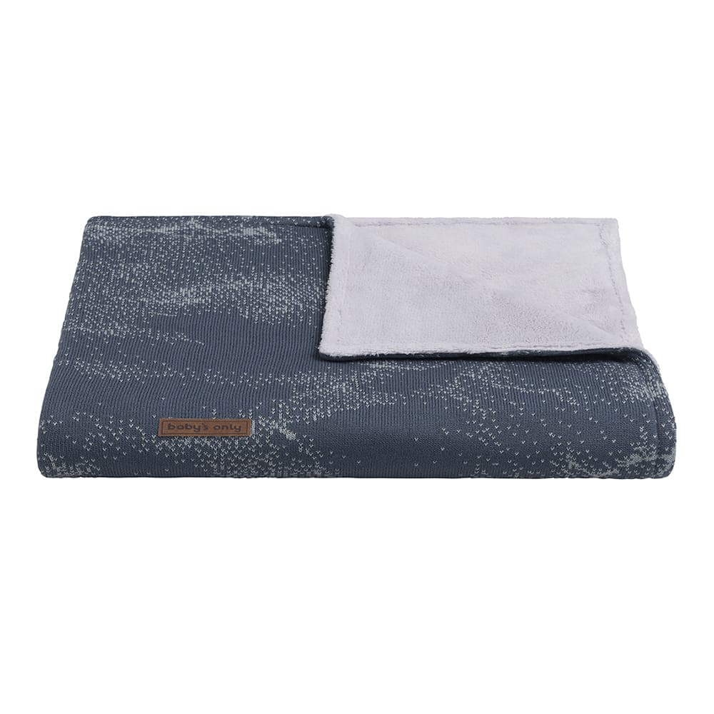 baby crib blanket teddy marble granitgrey