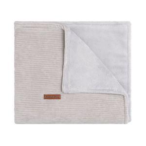 Baby crib blanket teddy Sense pebble grey