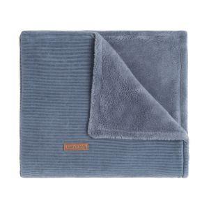 Baby crib blanket teddy Sense vintage blue