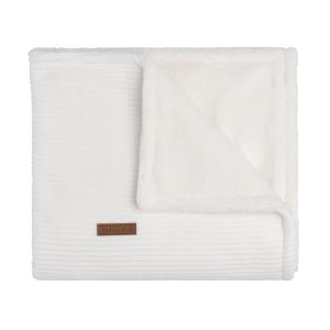 Baby crib blanket teddy Sense white