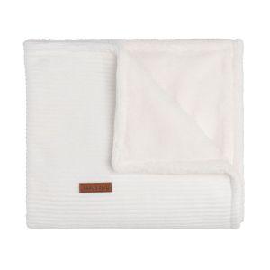 Baby crib blanket teddy Sense white