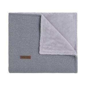 Baby crib blanket teddy Sparkle silver-grey melee