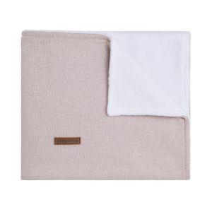 Baby crib blanket teddy Sparkle silver-pink melee