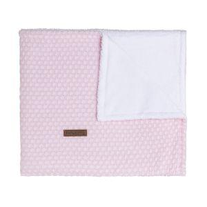 Baby crib blanket teddy Sun classic pink/baby pink