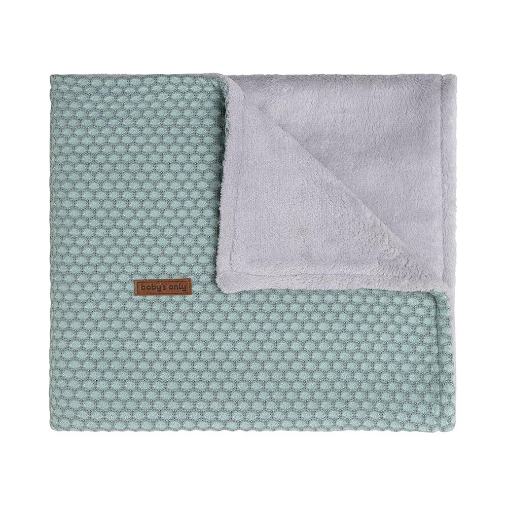 baby crib blanket teddy sun mintstonegreen