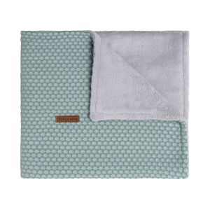 Baby crib blanket teddy Sun mint/stonegreen