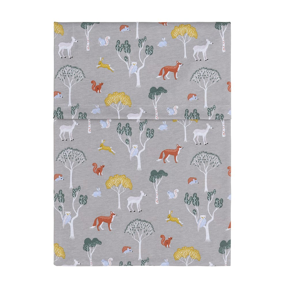 baby crib sheet forest