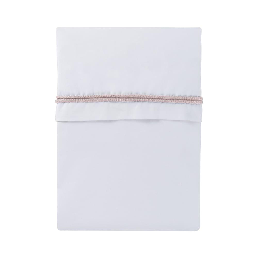 baby crib sheet knitted ribbon classic pinkwhite