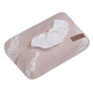 Baby wipes pouch Marble old pink/classic pink