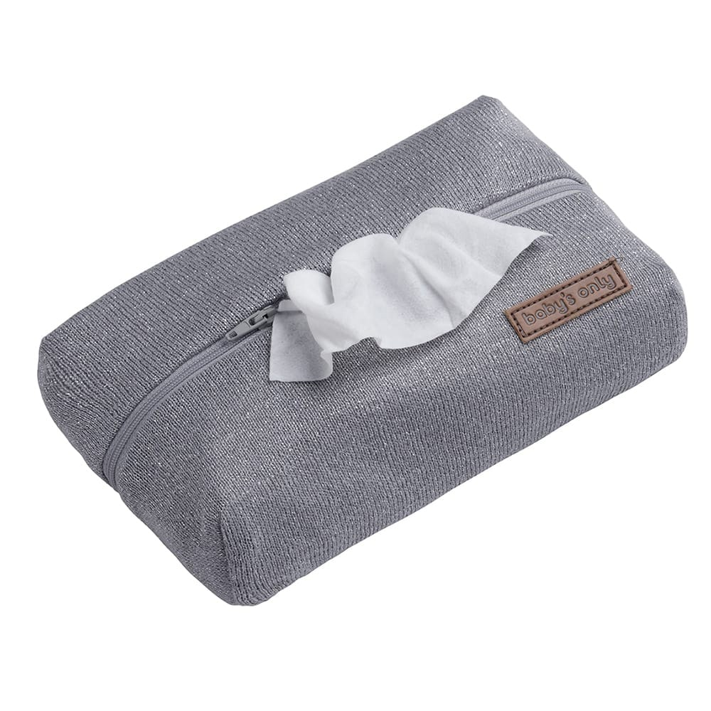 baby wipes pouch sparkle silvergrey melee