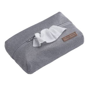 Baby wipes pouch Sparkle silver-grey melee