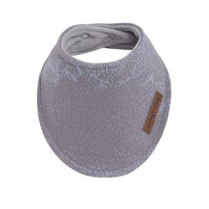 Bandana bib Marble cool grey/lilac