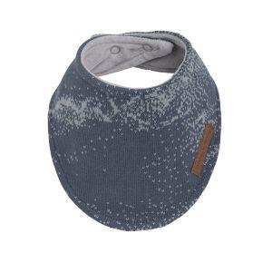 Bandana bib Marble granit/grey