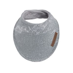 Bandana bib Marble grey/silver-grey