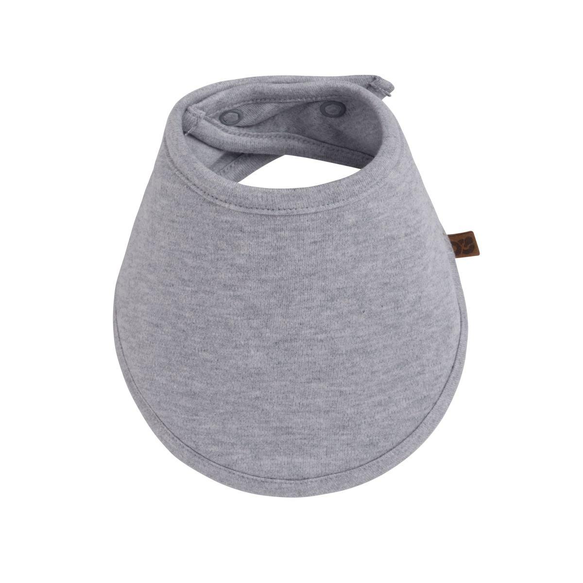 bandana bib melange grey